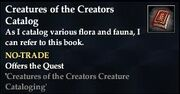 Creatures of the Creators Catalog