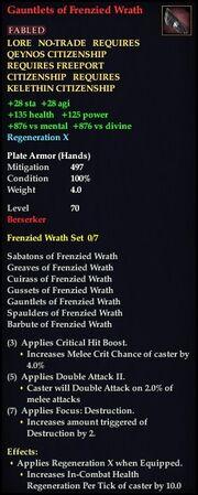 Gauntlets of Frenzied Wrath