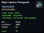 High Captains Neckguard