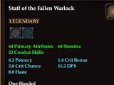 Staff of the Fallen Warlock