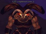 A nightblood sentry