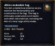 Albino snakeskin bag (Item)