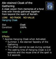 Ale-stained Cloak of the Gathering