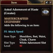 Astral Adornment of Haste (Greater)