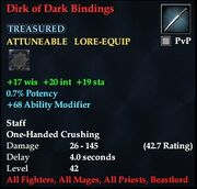 Dirk of Dark Bindings