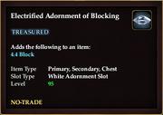Electrified Adornment of Blocking
