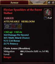 Elysian Spaulders of the Forest Stalker