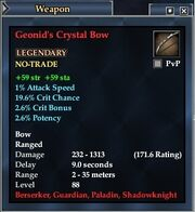Geonid's Crystal Bow