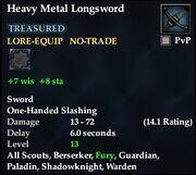 Heavy Metal Longsword