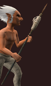 Iron Tribal Spear (Equipped)