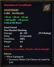 Manafused Greatblade