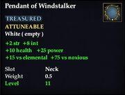 Pendant of Windstalker