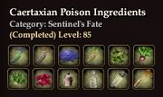 Caertaxian Poison Ingredients