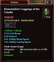 Elementalist's Leggings of the Citadel