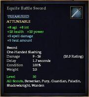 Equite Battle Sword