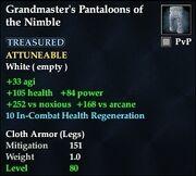 Grandmaster's Pantaloons of the Nimble