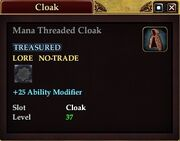 Mana Threaded Cloak