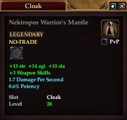 Nektropos Warrior's Mantle