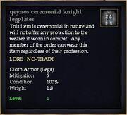 Qeynos ceremonial knight legplates