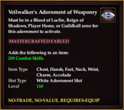 Veilwalker's Adornment of Weaponry (rwrd)