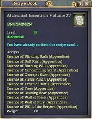 Alchemist Essentials Volume 27