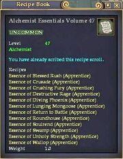 Alchemist Essentials Volume 47