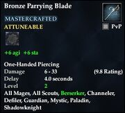 Bronze Parrying Blade