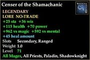 Censer of the Shamachanic