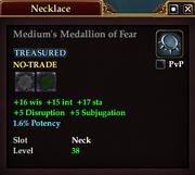 Medium's Medallion of Fear