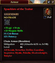 Spaulders of the Traitor