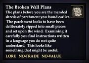 The Broken Wall Plans