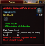 Acolyte's Wrought Plate Greaves