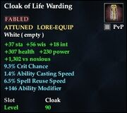 Cloak of Life Warding