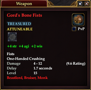 Gord's Bone Fists
