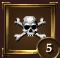 Icon achievement skull bones level 5