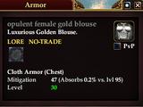 Opulent female gold blouse
