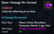 Rune- Damage Per Second
