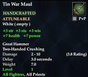 Tin War Maul