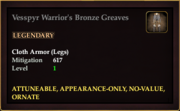 Vesspyr Warrior's Bronze Greaves
