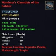 Wanderer's Gauntlets of the Soldier