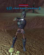 A flesh draped swordsman