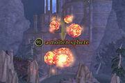 A molten sphere
