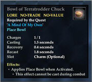 Bowl of Terratrodder Chuck
