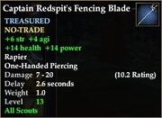 Captain Redspit's Fencing Blade