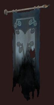 Charred-banner