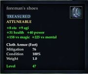 Foreman's shoes