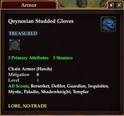 Qeynosian Studded Gloves