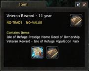 Veteran Reward - 11 year