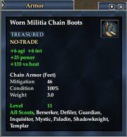 Worn Militia Chain Boots