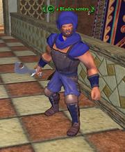 A Blades sentry